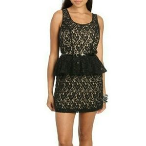 Lace Peplum Dress 🥀
